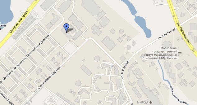Схема месторасположения ветеринарной клиники Лебеди на Мичуринском проспекте.