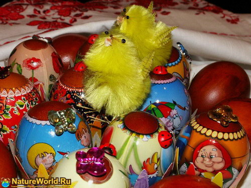 Яйца куриные на пасху