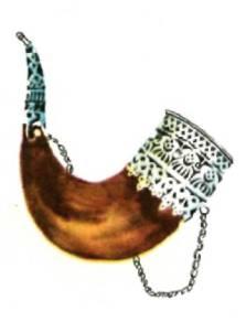 Рог сувенирный из натурального рога животного