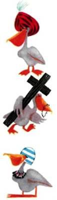 Семейство пеликанов за домашними хлопотами